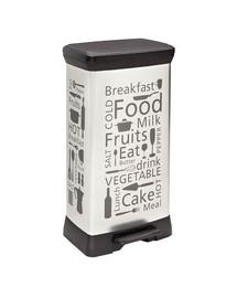 CURVER Metalinė šiukšlių dėžė su pedalu 50 l Kitchen sidabrinė