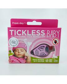 TICKLESS Baby ultragarsinis erkių repelentas vaikams rožinis