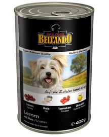 BELCANDO Super Premium Ėriena, ryžiai ir pomidorai 24x400 g šlapias šunų maistas