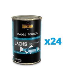 BELCANDO Single Protein Lašiša 24x400 g šlapias šunų maistas