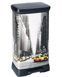 CURVER Metalizuota šiukšlių dėžė su pedalu New York City 50 l