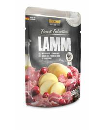 BELCANDO konservai šunims su ėriena su bulvėmis ir spanguolėmis. 300 g