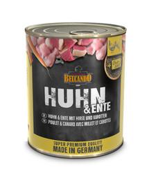 BELCANDO konservai šunims su antiena ir vištiena, soromis ir morkomis 800 g