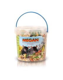 MEGAN Natūralus maistas žiurkėms 1l/475g