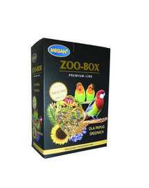 MEGAN Zoo-Box Premium Line vidutinėms papūgoms 750g visavertis mišinys