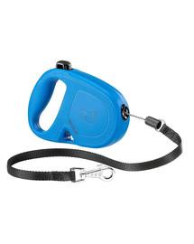 FERPLAST Flippy One Cord S Automatinis pavadėlis virvinis 4.5 m mėlynas