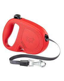 FERPLAST Flippy One Tape S Automatinis pavadėlis juostinis4 m raudonas