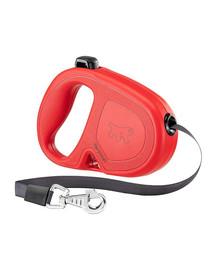 FERPLAST Flippy One Tape M Automatinis pavadėlis juostinis5 m raudonas