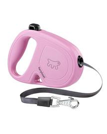 FERPLAST Flippy One Tape S Automatinis pavadėlis juostinisa 4 m Rožinis
