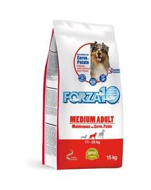 FORZA10 Medium Maintenance su elnių ir bulvių sausu maistu vidutinių veislių suaugusiems šunims 15 kg
