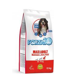 FORZA10 Maxi Maintenance su elnių ir bulvių sausu maistu suaugusių didelių veislių šunims 15 kg