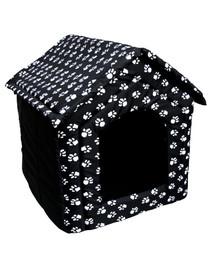 PETSBED būda- guolis šunims juoda su letenėlėms 44 x 38 cm