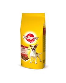 PEDIGREE Adult 12kg(mažos veislės) - sausas šunų maistas su jautiena ir daržovėmis+ Dr PetCare MAX Biocide Collar Antkaklis nuo blusų ir vabždžių mažos veislės šuniui 35 cm NEMOKAMAI