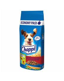 CHAPPI 13,5kg - sausas šunų maistas su jautiena, paukštiena ir daržovėmis+ Dr PetCare MAX Biocide Collar Antkaklis blusoms ir vabzdžiams vidutinės veislės šuniui 60 cm NEMOKAMAS