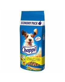 CHAPPI 27kg (2x13,5kg) -sausas šunų maistas su paukštiena ir daržovėmis + Dr. PetCare MAX biocidinis Antkaklis blusoms ir vabzdžiams šuniuividutinės veislės šunims 60 cm NEMOKAMAI