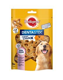 PEDIGREE Dentastix Chewy ChunX Maxi 5 x 68g – dantų skanėstai suaugusiems vidutinių ir didelių veislių šunims