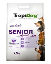 TROPIDOG Premium Senior Turkey&Rice 2,5kg sausas maistas vyresniems šunims kalakutiena ir ryžiai