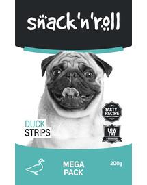 SNACK & ROLL Duck Strips Antienos juostelės 3x200 g 2 + 1 FREE