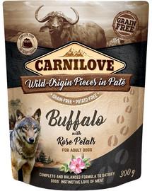 CARNILOVE Dog Paté Buffalo with Rose Petals 300g šlapias maistas šunims Buivolas su rožių žiedlapiais