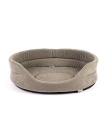 INTERZOO Ovalus šunų guolis, pilkas 53x44x16 cm
