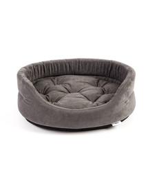 INTERZOO Ovalus šunų guolis su pagalve, pilkas 47x38x15 cm