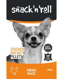 SNACK & ROLL Chicken Breast Fillet Vištienos krūtinėlės filė 3x200 g 2 + 1 NEMOKAMAI