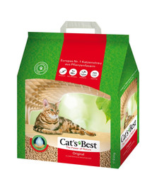 JRS Cat's Best Original eko plus 5 l (2,1 kg) +Mentelė kačių tualetui NEMOKAMAI