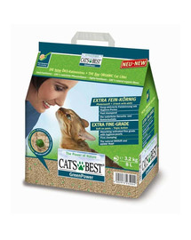 JRS Cat's Best Green Power 8l +Mentelė kačių tualetui NEMOKAMAI