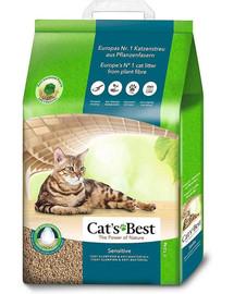 JRS Cat's Best Sensitive 20l medinis kačių kraikas+ Mentelė kačių tualetui NEMOKAMAI