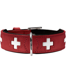 HUNTER Swiss odinis antkaklis dydis XL (75) 61-68,5/3,9 cm raudonas