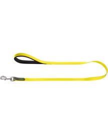 HUNTER Convenience pavadėlis 1,5cm/1,2m geltonas neonas