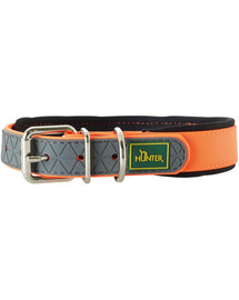 HUNTER Convenience Comfort antkaklis dydis M-L (55) 42-50/2,5cm oranžinis neonas
