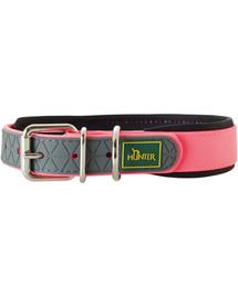 HUNTER Comfort antkaklis dydis L (60) 47-55 / 2,5 cm neoninės, rožinės spalvos
