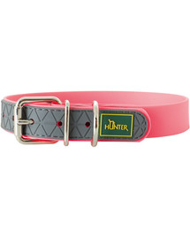 HUNTER Convenience antkaklis dydis M-L (55) 42-50/2,5cm rožinis neonas