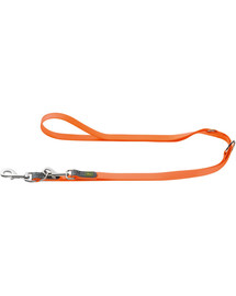 HUNTER Convenience pavadėlis 1,5cm/2m oranžinis neonas