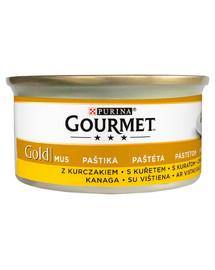 GOURMET Gold putėsiai su vištiena 24x85 g drėgnas maistas katėms