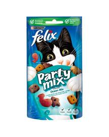 FELIX Party Mix Ocean su lašiša, jūrine lašiša ir upėtakiu 8x60g