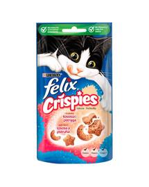 FELIX Crispies su lašišos ir upėtakio skonis 8x45 g