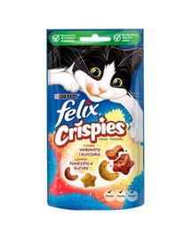 FELIX Crispies jautienos ir vištienos skonid 8x45 g