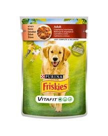 FRISKIES Vitafit Adult su aviena ir morkomis padaže 20x100g m šlapias šunų maistas