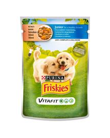 FRISKIES Vitafit Junior su vištiena ir morkomis padaže20x100g šlapias šuniukų maistas