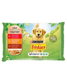 FRISKIES Vitafit Adult Mėsos skonių mišinys 4x100g drėgnas maistas suaugusiems šunims