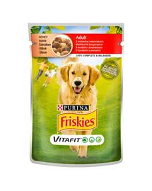 FRISKIES Vitafit Adult su jautiena ir bulvėmis padaže 20x100g šlapias šunų maistas