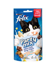 FELIX Party Mix Dairy Delight 8x60g skanėstai katėms
