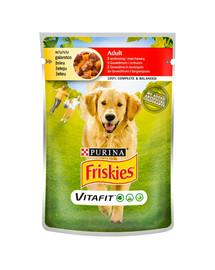 FRISKIES Vitafit Adult su jautiena ir morkomis 20x100g šlapias šunų maistas