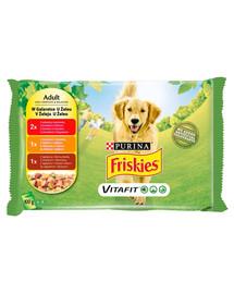 FRISKIES Vitafit Adult Skonių mišinys drebučiuose 4 4x100g drėgnas maistas suaugusiems šunims