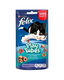 FELIX Play Tubes Kepta žuvis ir krevetės 8x50 g