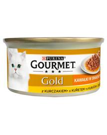 GOURMET Gold Sauce Delights su vištiena 85 g šlapias maistas katėms