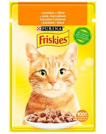 FRISKIES Vištiena 85g drėgnas kačių maistas