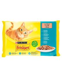 FRISKIES  Multipack 48x85g žuvies skonių mišinys - drėgnas kačių maistas